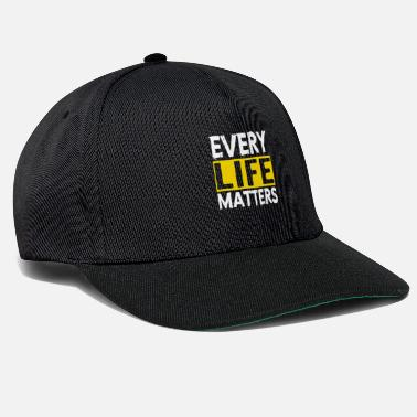 Suicidal Counselor Therapist MENTAL HEALTH AWARENESS: Every Life Matters - Snapback Cap