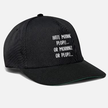 Lat I Hate Morning People Work Late Sleepers - Snapback cap