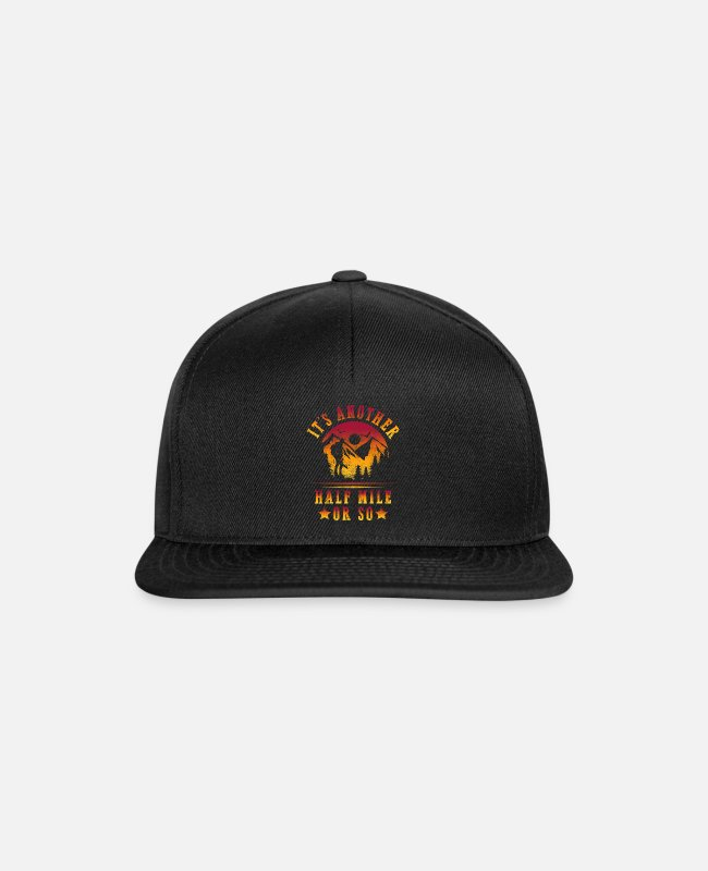 Mountains Caps & Hats - It's Another Half Mile Shirt Hiking Mountains - Snapback Cap black/black