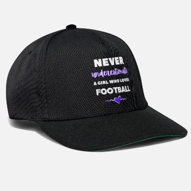 Herring Never underestimate a girl who loves football - Snapback Cap