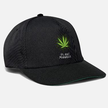 Cannabis Plant Manager Cannabis Marihuana THC CBD Weed Hanf - Snapback Cap