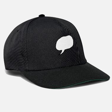 Speech Balloon speech bubble - Snapback Cap