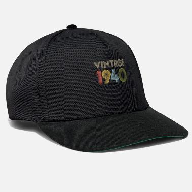 Birthday Vintage 80th Birthday Gift Born in 1940 - Snapback Cap