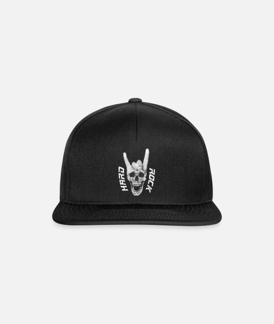 Heavy Metal Caps & Hats - Hard Rock music skull devil horn sign - Snapback Cap black/black