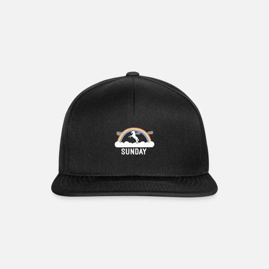 Sunday Caps & Hats - Sunday - Snapback Cap black/black