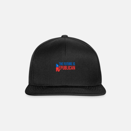Tee Caps & Hats - The Future is Republican - Snapback Cap black/black