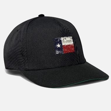 State Texas 2.3.1836 State Flag Distressed - Snapback Cap