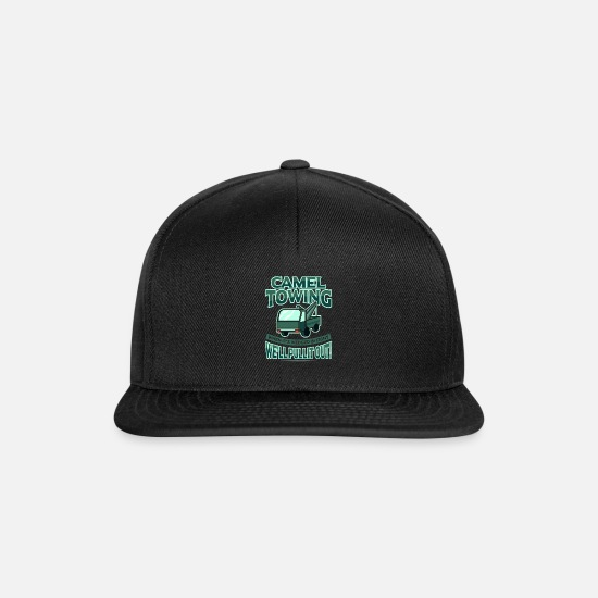 Truck Caps & Mützen - Camel Towing Trow Trucker We'll Put It Out Caravan - Snapback Cap Schwarz/Schwarz
