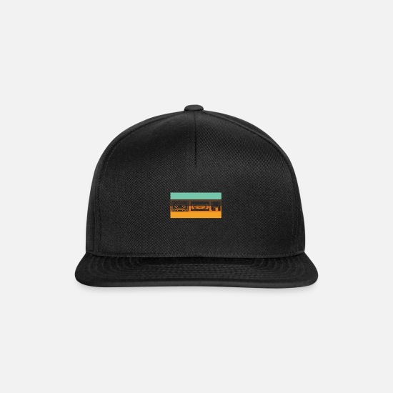 Nostalgia Caps & Hats - Retro Video Cassette Tape Disc Gift | - Snapback Cap black/black