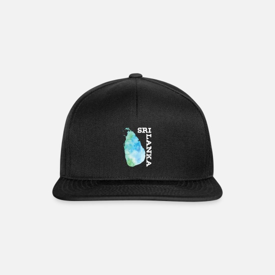 Love Caps & Hats - Sri Lanka Country Map Proud Sri Lanka Gift - Snapback Cap black/black