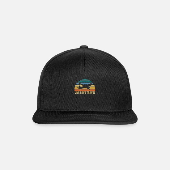 Travel Caps & Hats - Travelers Traveling Adventure Vacation Traveling - Snapback Cap black/black