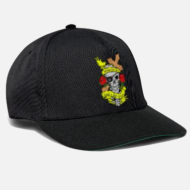 Rockabilly Skallen rosor Cross Rock n Roll Rockabilly Art - Snapbackkeps