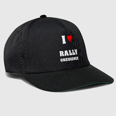 I love rally obedience - Snapback Cap