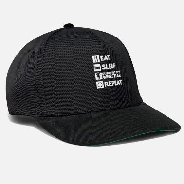 Grappling Mom Wrestling Eat Sleep Support Repeat Gift - Snapback Cap