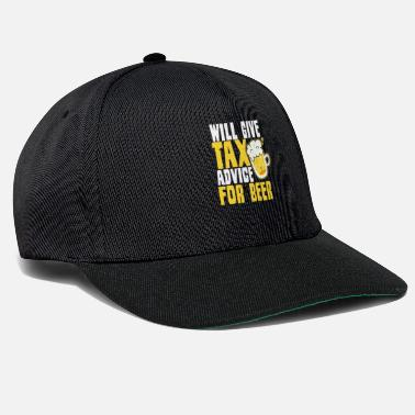 File Tax Day Will Give Advice For Beer Gift - Snapback Cap