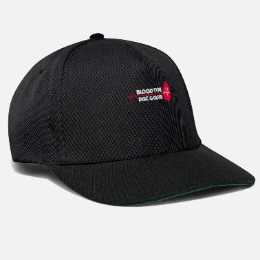 Ultimate Frisbee 0Blood Group Frisbee Golf heart line - Snapback Cap