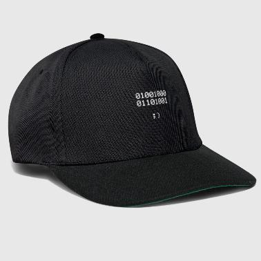 HI | Binary code design | black - Snapback Cap