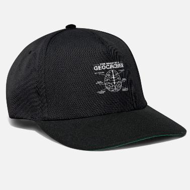 Geografie The Brain Of A Geocacher | Geocaching Geschenk - Snapback Cap