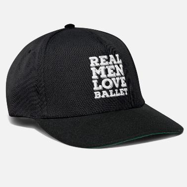Danish Ballet Funny Design Mens - Real Men Love Ballet - Snapback Cap