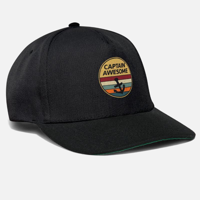 d2813f2014b Birthday Caps   Hats - Sailing Retro Vintage Anchor Skipper Skipper Gift - Snapback  Cap black