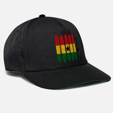 Nationalfarben Trendy Ghana Modern Nationalfarben Land Geschenk - Snapback Cap