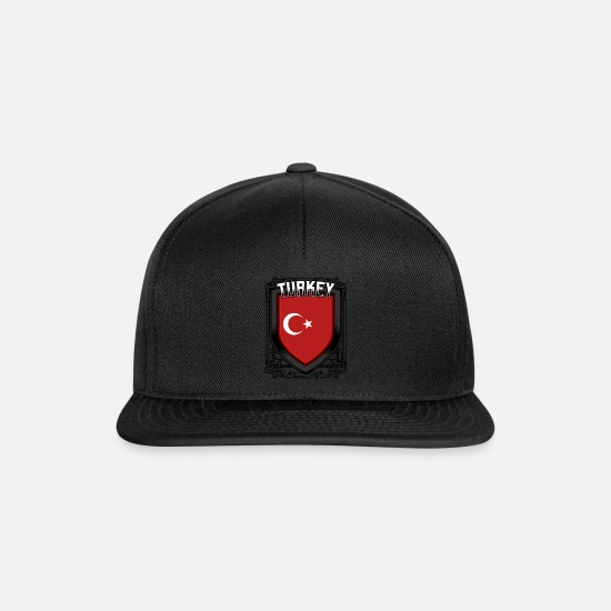 Patriot Caps & Hats - Turkish coat of arms Republic of Turkey Ankara gift - Snapback Cap black/black