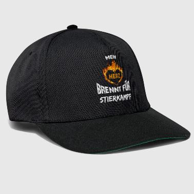 Gift T-Shirt Heart Burns Bullfight - Snapback Cap