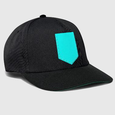 Pocket Pocket Monster breast pocket turquoise - Snapback Cap