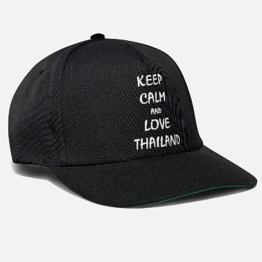 Thailand keep calm and love thailand geschenk spruch shirt - Snapback Cap