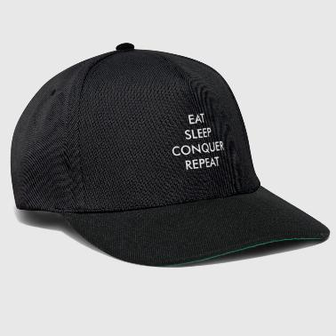Sex Eat sleep conquer repeat Geschenk - Snapback Cap