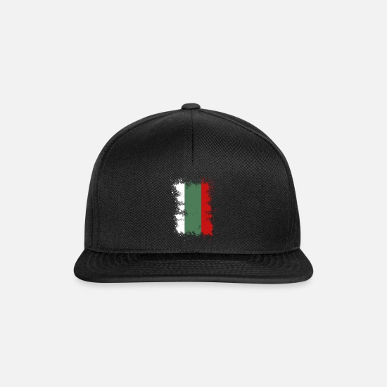 Bulgaria Caps & Hats - Bulgaria flag color splash gift idea - Snapback Cap black/black