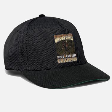 Yeti Bigfoot Design - Undefeated Hide And Seek Champion - Snapback Cap