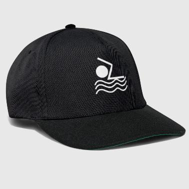 Stick Figure Stickman Swimming Water Sports Cool - Snapback Cap