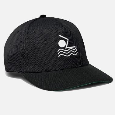 Stickman Stick Figure Stickman Swimming Water Sports Cool - Snapback Cap