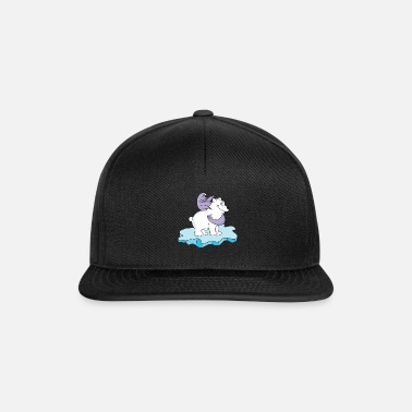 Winter Funny Cute Cool Polar Bear Bear Seal - Snapback Cap