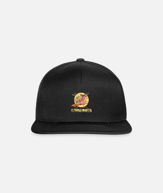 Grav Kasketter & huer - Halloween Flamingoween Flamingo Witch Sjov gave - Snapback cap sort/sort