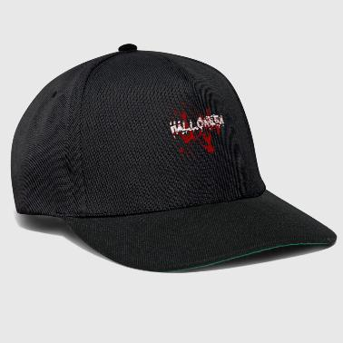 Halloween lettering blood drop slogan - Snapback Cap