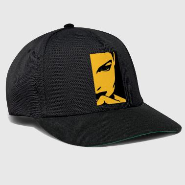 Face Of An Attractive And Mysterious Woman - Snapback Cap