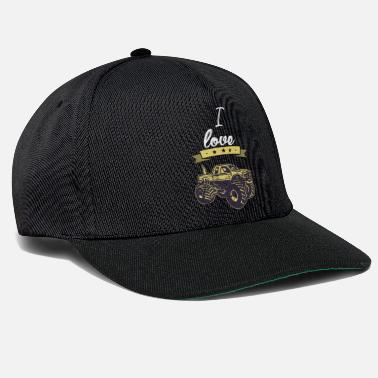 Wheelie I love monster truck gift I love - Snapback Cap