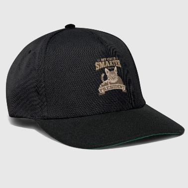 Cat President USA Gift Granted Brown Paw - Snapback Cap