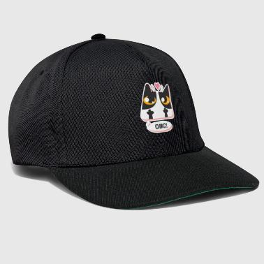 Dumbbell illustration Børn sjov kat Kitty - Snapback Cap