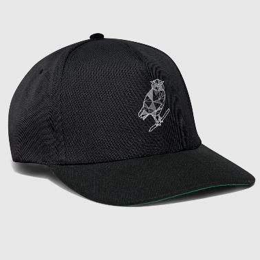 Owl eagle owl geometric gift hipster bird forest - Snapback Cap