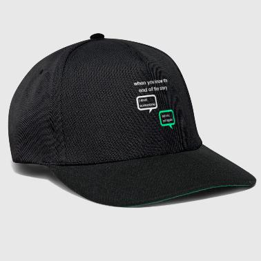 whatsapp conversation between friends - Snapback Cap