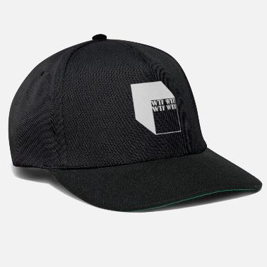 Cubes wtf logo abstract cubes - Snapback Cap