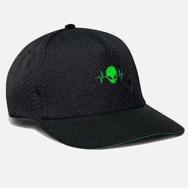 Alien Alien extraterrestre marciano pulso ECG regalo - Gorra snapback 6d2285c1f51