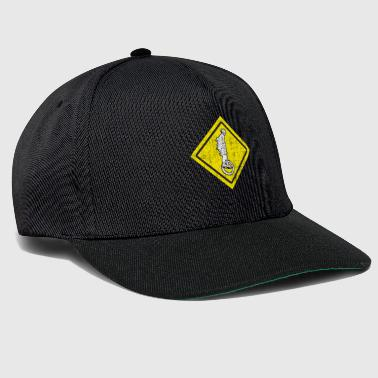 Funny yellow unicycle sign - Snapback Cap