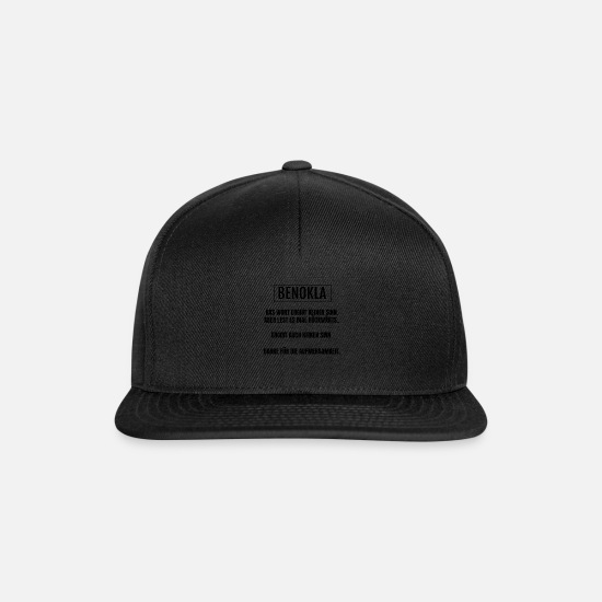 Birthday Caps & Hats - Benokla Meaningless Sinn Sinn Ben attention - Snapback Cap black/black