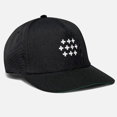 Red Cross 10 white crosses with a heart - Snapback Cap