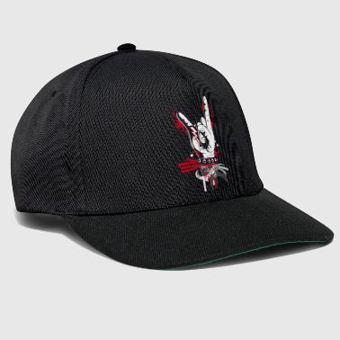 Metal and rock hand sign - Snapback Cap