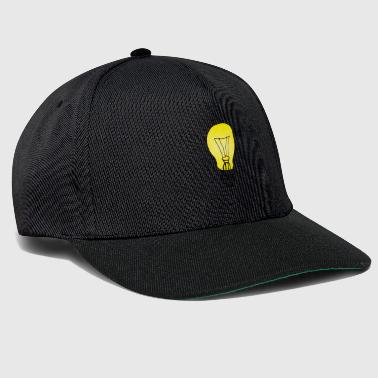 Black Light Light bulb on black gift light - Snapback Cap